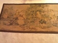 Vintage Tapestry Colonial Garden Scene Dancing Courting EVC Neat Border 68 x 37