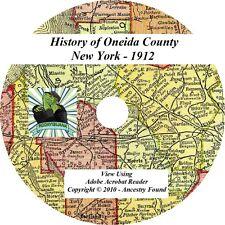 1912 History of Oneida County New York NY Genealogy