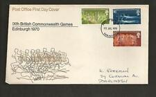 GREAT BRITAIN -  1970 The 9th British Commonwealth Games      -  FDC