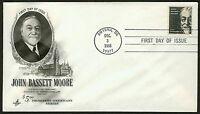 #1295 $5 John Bassett Moore, Art Craft-Hand Cancel FDC **ANY 4=FREE SHIPPING**