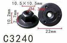 20pcs Fit BMW 10 mm Hex Head Plastic Self-Threading Nut 7169847 07147169847