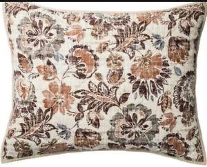 1 THRESHOLD Jacobean Floral Standard Size Bed Pillow Sham Fall Neutral