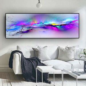 Abstract Colors Unreal Canvas Poster Purple Landscape Wall Art Painting HD Print