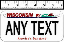 PERSONALIZED ALUMINUM MOTORCYCLE STATE LICENSE PLATE-WISCONSIN