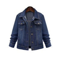Womens Denim Jacket Causal Jean Long Sleeve Coat Jean Jackets Fashion Coats
