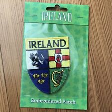 Ireland Counties Shield Patch Euro stick Iron On Embroidered Celtic Celtic Crest
