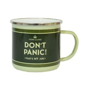 OFFICIAL DADS ARMY DONT PANIC ITS MY JOB GREEN ENAMEL COFFEE MUG CUP NEW *