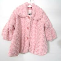 Corky & Company Coat Jacket Girls Size 3T PINK Super Plush Soft Fleece Lined