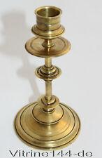 antiker SCHEIBENLEUCHTER  Kerzenleuchter Kandelaber Messing  19. Jahrhundert