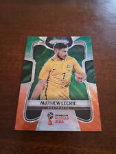 2018 Panini Prizm World Cup Mathew Leckie #274 Green and Orange Wave Australia