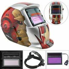 Silver Iron Man Adjust Solar Auto Darkening TIG MIG Grinding Welding Helmets