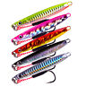 5Pcs Jigging 18g 21g 30g Metal Knife Jig Fishing Lures Tuna Snapper Slow Lure