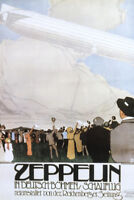 Zeppelin German Airship Airshow French Art Print Poster 12x18 inch