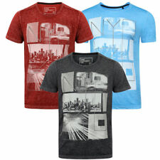New Mens Tokyo Laundry Manhatburn Crew Neck Graphic Jersey T-Shirt Size S-XXL
