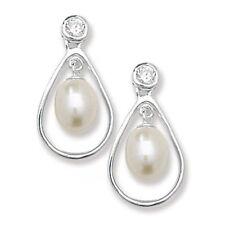 Pendientes de joyería con perlas de plata de ley perla