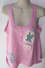 Jim Benton Pink Happy Bunny Tank Top Size XL kids Not My Fault Your Icky