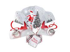 Santa Petite Christmas Pop-Up Greeting Card Second Nature 3D Pop Up Cards