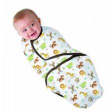TWO Baby SwaddleMe Wrap Swaddle Blanket Small/Medium Cotton Safari Jungle 7-14lb
