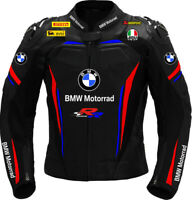 BMW Men Motorcycle Street Racing Motorbike CE Armour Leather Sports Jacket