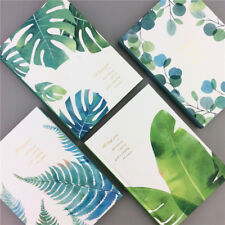 """Green Leaves"" 1pc Hard Cover Notebook Beautiful Study Journal Diary Notepad"
