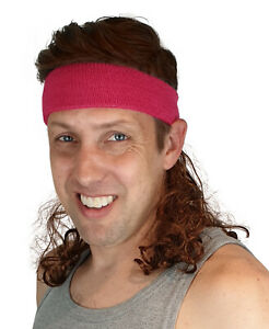 Magic Mullet Wig Attaches to ANY Headwear, Mullet Headband, 80's Wig, Pink