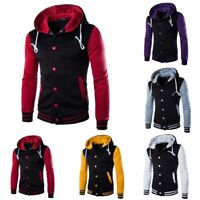 Coat Hoodies Sweater Warm Jacket Slim Hooded Men's Outwear Sweatshirt Winter