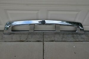2013-2016 Mercedes GL Front Bumper Chrome Lower Sill Skid Valance Plate OEM