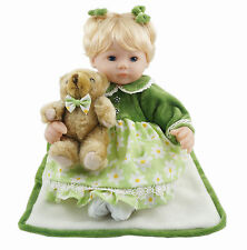 16-Inch Green Baby Girl for Child Vinyl Dolls with Bear Toy Gift Cosette
