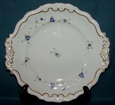 GRAINGER WORCESTER PORCELAIN TEA PLATE, C.1830, ELEGANT ENAMAL FLOWERS WITH GILT