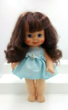 "Vintage Ideal Toy Corp Doll 1980 Pretty Curls Blue Dress Blue Eyes 12"""