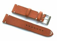 22mm Replacement BROWN Genuine Leather Watch Band Handmade - Citizen Eco-Drive