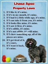 Lhasa Apso Property Laws Magnet Personalized With Your Dog's Name