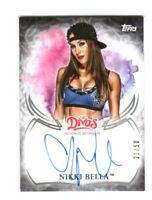WWE Nikki Bella 2015 Topps Undisputed Divas Black On Card Autograph SN 21 of 50