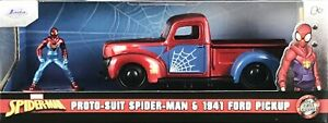 Jada Marvel Spiderman Proto-Suit Spider-Man & 1:32 1941  Ford Pickup