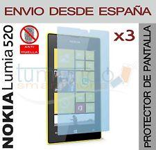 3x protection ECRAN MATE ANTI-EMPREINTE pour NOKIA LUMIA 520 en Espagne