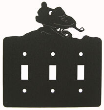 Snowmobile Triple Switch Cover Plate Black