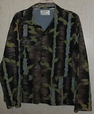 EXCELLENT MENS GAME TRACKER TREE COVER Charles Denault Camouflage SHIRT  SIZE XL