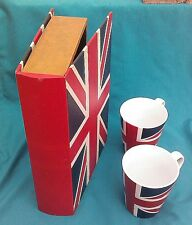 Decorative Keepsake Book  & Coffee Mug Cup White Red Blue United Kingdom UK