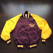 Vintage DeLong Pueblo Colorado East HS 80s Maroon Tennis Jacket Mens M USA