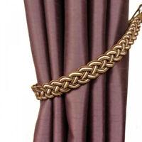 Braided Rope Tassel Window Curtain Fringe Multicolor Tieback Tie-Backs Holder DB