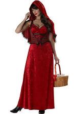 CARNEVALE COSTUME VESTITO CAPPUCCETTO ROSSO MISS RED 01279 DONNA M