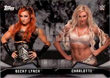 2016 Topps WWE Divas Revolution Rivalries #6 Becky Lynch vs. Charlotte - NM-MT