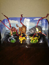 Disney Lion Guard King 6pc Christmas Ornaments Figure Set Simba Timon Pumbaa NEW