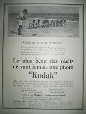 PUBLICITE DE PRESSE KODAK APPAREIL PHOTO COURSE EN LIGNE FRENCH AD 1924