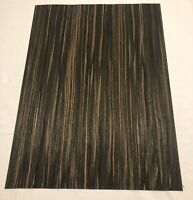 "Composite Macassar Ebony Wood Veneer 1/42 Thick. 1 Sheet (22"" X 16"" "") 2 Sq Ft"