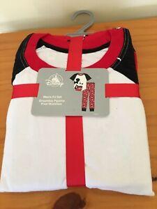 New Disney store Mickey Mouse Men pajama set Red L, XL