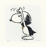 Snoopy Peanuts Art Sowa & Reiser #D/500 Hand Painted Etching Hands Up Dracula
