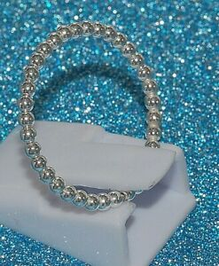 Sterling Silber 925 Stapelring Beisteckring Kugelring bewegliche Kugeln Ø 2 mm