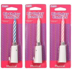 Culpitt Musical Birthday Candles Happy Birthday Party Cake Topper Decoration Set