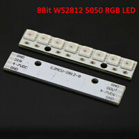 New 8 Channel WS2812 5050 RGB 8 LEDs Light Strip Driver Board for Arduino White